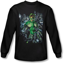 Green Lantern - Mens Surrounded By Death Long Sleeve Shirt In Black
