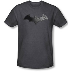 Batman: Arkham City - Mens Bat Logo T-Shirt In Charcoal