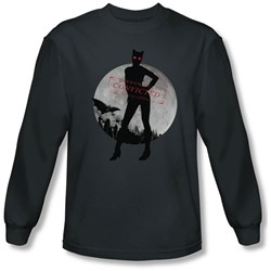 Batman: Arkham City - Mens Catwoman Convicted Long Sleeve Shirt In Charcoal