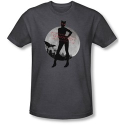 Batman: Arkham City - Mens Catwoman Convicted T-Shirt In Charcoal