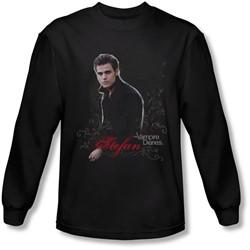 Vampire Diaries - Mens Stefan Long Sleeve Shirt In Black