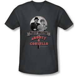 Abbott & Costello - Mens Super Sleuths V-Neck T-Shirt