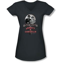 Abbott & Costello - Juniors Super Sleuths V-Neck T-Shirt