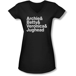 Archie Comics - Juniors Ampersand List V-Neck T-Shirt