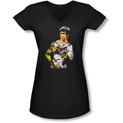 Bruce Lee - Juniors Body Of Action V-Neck T-Shirt