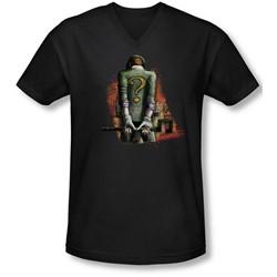 Arkham City - Mens Riddler Convicted V-Neck T-Shirt
