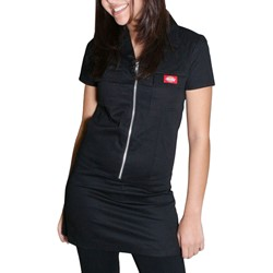 Dickies Girl Annie Zipper Front Dress in Black