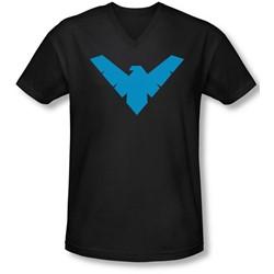 Batman - Mens Nightwing Symbol V-Neck T-Shirt