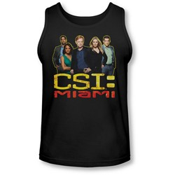 Csi Miami - Mens The Cast In Black Tank-Top
