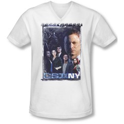 Csi Ny - Mens Watchful Eye V-Neck T-Shirt