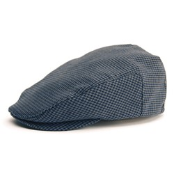 Hooligan Hat in Grey Herringbone Twill by Brixton