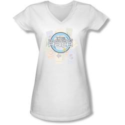 Amazing Race - Juniors The Race V-Neck T-Shirt