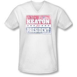 Family Ties - Mens Alex For President V-Neck T-Shirt