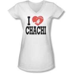 Happy Days - Juniors I Heart Chachi V-Neck T-Shirt