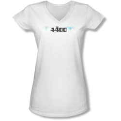 4400 - Juniors The 4400 Logo V-Neck T-Shirt