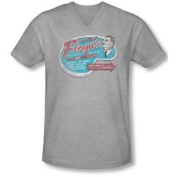 Mayberry - Mens Floyd'S Barber Shop V-Neck T-Shirt