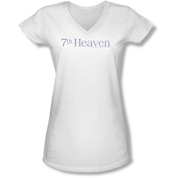 7Th Heaven - Juniors 7Th Heaven Logo V-Neck T-Shirt
