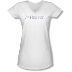 7Th Heaven - Juniors 7Th Heaven Logo V-Neck T-Shirt
