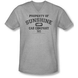 Taxi - Mens Property Of Sunshine Cab V-Neck T-Shirt