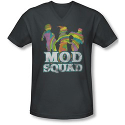 Mod Squad - Mens Mod Squad Run Groovy V-Neck T-Shirt