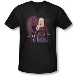 Medium - Mens Medium V-Neck T-Shirt