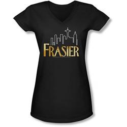 Frasier - Juniors Frasier Logo V-Neck T-Shirt