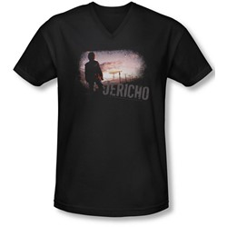 Jericho - Mens Mushroom Cloud V-Neck T-Shirt