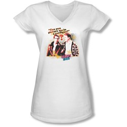 Happy Days - Juniors No Cardigans V-Neck T-Shirt