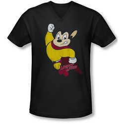 Mighty Mouse - Mens Classic Hero V-Neck T-Shirt