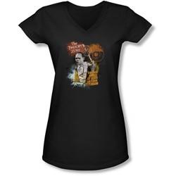 Twilight Zone - Juniors Enter At Own Risk V-Neck T-Shirt