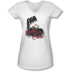 Ncis - Juniors Strange Is Not A Crime V-Neck T-Shirt