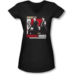Criminal Minds - Juniors Guns Drawn V-Neck T-Shirt