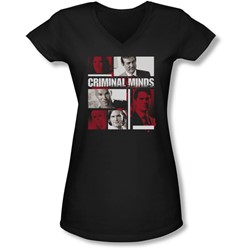 Criminal Minds - Juniors Character Boxes V-Neck T-Shirt