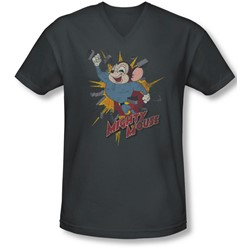Mighty Mouse - Mens Break Through V-Neck T-Shirt