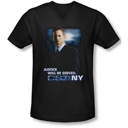 Csi:Ny - Mens Justice Served V-Neck T-Shirt