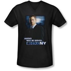 Csi:Ny - Mens Justice Served V-Neck T-Shirt