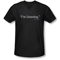 Frasier - Mens I'M Listening V-Neck T-Shirt