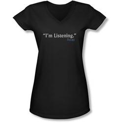 Frasier - Juniors I'M Listening V-Neck T-Shirt