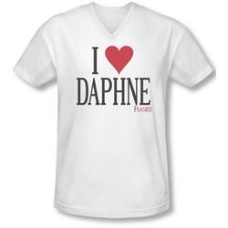 Frasier - Mens I Heart Daphne V-Neck T-Shirt