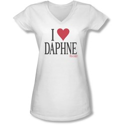 Frasier - Juniors I Heart Daphne V-Neck T-Shirt