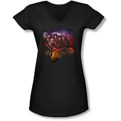 Farscape - Juniors Graphic Collage V-Neck T-Shirt