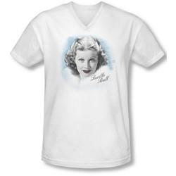 Lucille Ball - Mens In Blue V-Neck T-Shirt