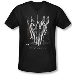 Lor - Mens Big Sauron Head V-Neck T-Shirt