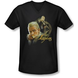 Lor - Mens Legolas V-Neck T-Shirt