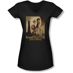 Lor - Juniors Tt Poster V-Neck T-Shirt