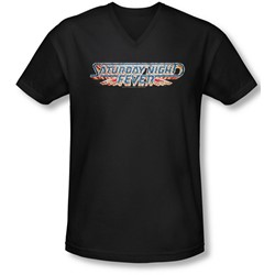 Saturday Night Fever - Mens Logo V-Neck T-Shirt