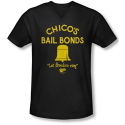 Bad News Bears - Mens Chico'S Bail Bonds V-Neck T-Shirt