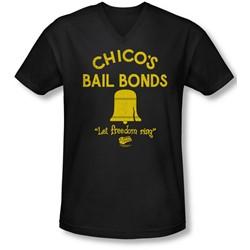 Bad News Bears - Mens Chico'S Bail Bonds V-Neck T-Shirt