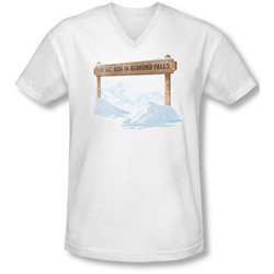 Its A Wonderful Life - Mens Bedford Falls V-Neck T-Shirt