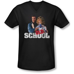 Old School - Mens Frank And Friend V-Neck T-Shirt